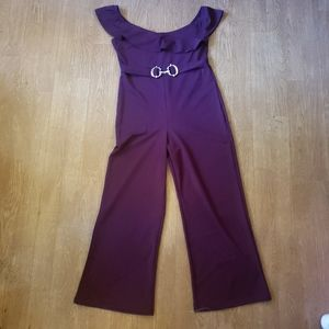 Jumpsuit with Silver Buckle Detail